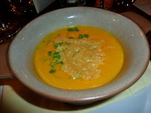 Butternut Squash Veloute, Parmesan Crisp