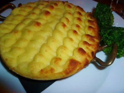 Foxtrot fish pie, broccoli